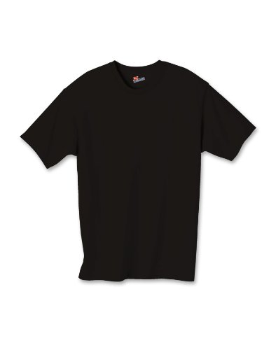 Hanes Authentic Tagless Kid`s Cotton T-Shirt Black