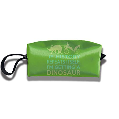Travel Toiletry Pouch Dinosaur Shaving Kit Make-up Bag with Handle,Portable Organizer Receive Cosmetic Storage Case for Women and -