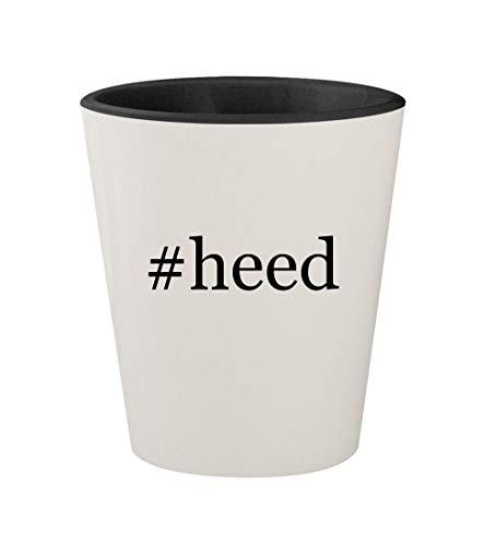 (#heed - Ceramic Hashtag White Outer & Black Inner 1.5oz Shot Glass)