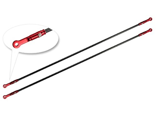 Microheli Aluminum/Carbon Tail Boom Support set (RED) - T-REX 450L