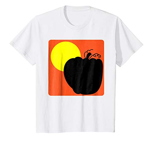 (Kids Huge Pumpkin Halloween T-Shirt Art Simple Design 10)