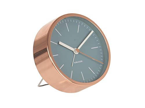 Karlsson Minimal Alarm Clock, Blue