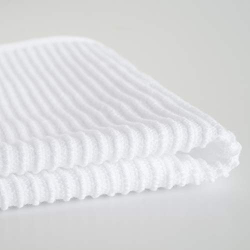 Now Designs Ripple Kitchen Dishcloth, Set of 4, White by Now Designs (Image #1)