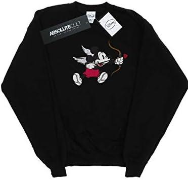 Disney Herren Mickey Mouse Love Cherub Sweatshirt Schwarz XXXXX-Large