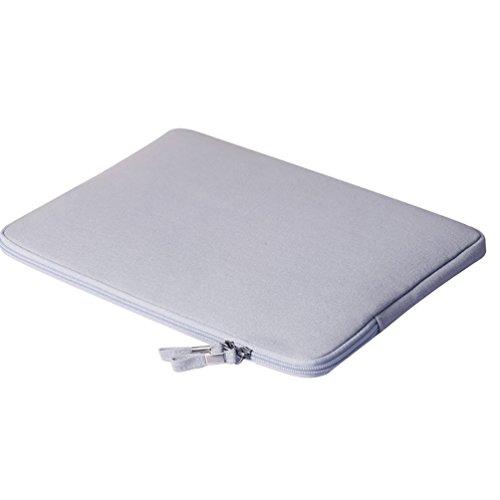 YiJee Funda para Portátiles con el Bolso Extra Ordenador Portátil Caso para Computadora 15.4 Pulgada Gris