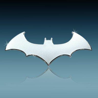 Batman (3D Bat) Chrome Auto Emblem
