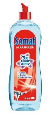 Somat Rinse Aid 3x Shine LARGE BOTTLE 750ML - Pack of 6 (Equals 9 regular bottles) Henkel