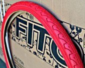 Duro gemustert Tread Fahrrad Reifen, 66 x 3,8 cm, rot, für Beach Cruiser Bikes und mountain Bikes von Duro
