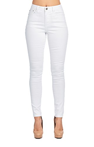 Blue Age Womes Solid White Well Stretch Skinny Jeans ,Jp0099a_white, 5