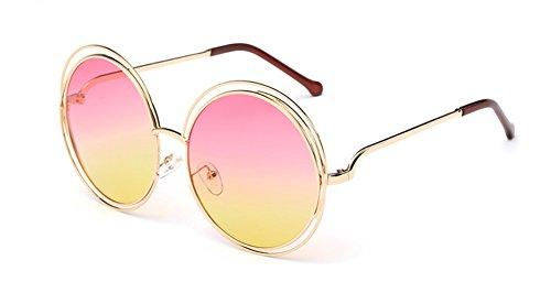 Película Gafas Alrededor Salvaje de Sol de Sol Párrafo la Barbie Fox Gafas de UV Color Skyeye de Oro Mismas Marco Las Gafas del Lentes de de de Sol Protección del Señoras qzxH8wOUX