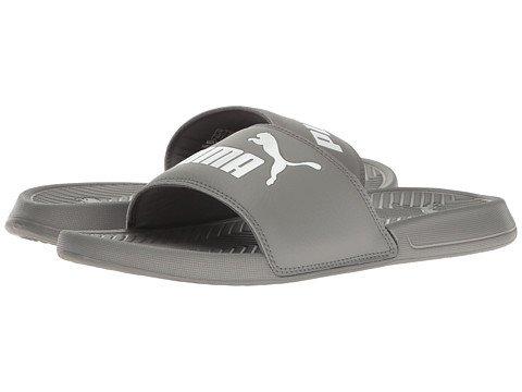 ワイプ測定可能精算(プーマ) PUMA メンズサンダル?靴 Popcat Quiet Shade/Puma White 8 26cm D - Medium [並行輸入品]
