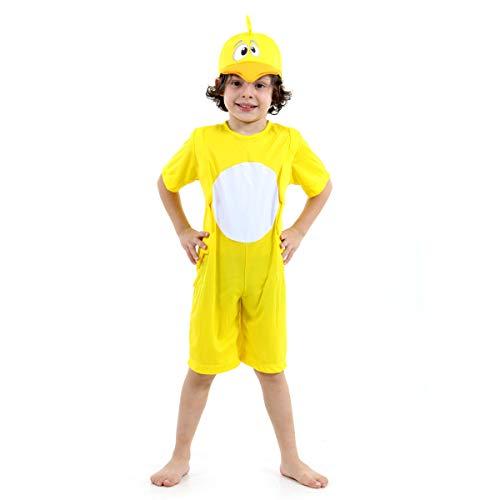 Pintinho Amarelinho Infantil Sulamericana Fantasias Amarelo 4 Anos