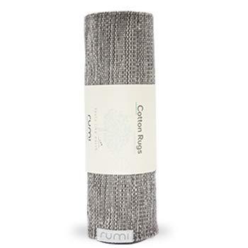 Rumi Cotton Rugs - Graphite/Stone 26x76 ()
