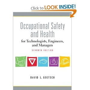 Occupational Safety and Health for Technologists 7th (Seventh) Edition byGoetsch pdf epub