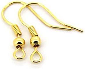 Set de 100 Crochet Boucle D/'oreille en Argent pour Fabrication de Bijoux Boucles