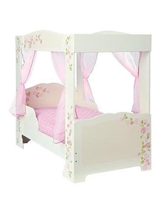 Girls Rose 4 Poster Toddler Bed Deluxe Foam Mattress