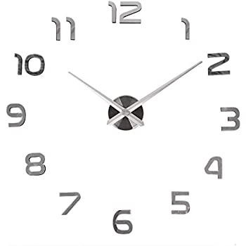 LOOYUAN Modern 3D Frameless Large Wall Clock Style Watches Hours DIY Room Home Decorations Model