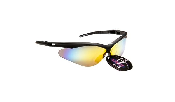 Rayzor Profesionales Ligeros UV400 Rojas Deportes Wrap ESQU/Í Gafas de Sol con un 1 Pieza con ventilaci/ón ahumada antideslumbrante Lente con Espejo