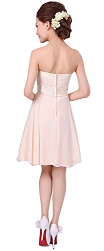 Homecoming Junior Chiffon Champagne Short Party Strapless Bridesmaid Gowns Dress Drasawee Prom PB8qc