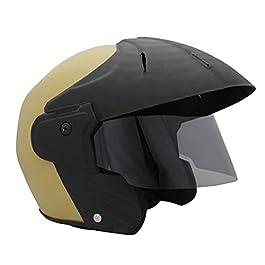 Sage Square Benz Power || ISI Certified || Open Face Helmet for Unisex Adult (Khakhi Matte)