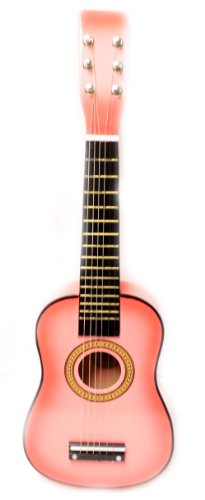 23'' Childrens Toy Pink Acoustic Guitar :String Instrument by Bridgecraft