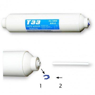 Wasserfilter für Samsung LG Kühlschränke (Side by Side) Anschluss über 5 mm Schlauch beidseitig