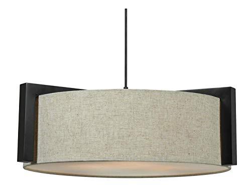 Kenroy Home 91593MBR Teton 3 Light Pendant ()