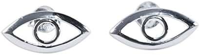NOVICA .925 Sterling Silver Button Earrings 'Magic Eye'