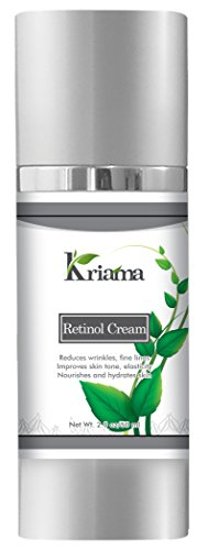 Kriama 2.5% Retinol Cream for Face & Eyes with Hyaluronic Acid, Collagen, Vitamin E - Medical-Strength Anti-Aging Cream - Reverses Wrinkles, Crow's Feet, Under-Eye Bags with Regular Use - 2OZ (Foot Vitamins Cream)