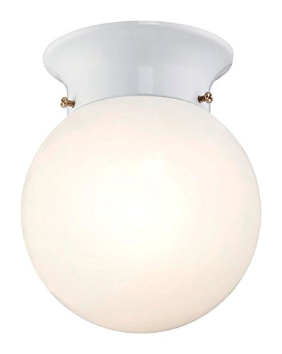 Finish Opal White (Westinghouse 6107000 5-13/16-Inch ENERGY STAR LED Indoor Flush Mount Ceiling Fixture, White Finish with White Opal Glass Globe)