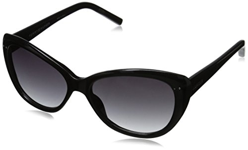Tommy Hilfiger Women's THS LAD133 Cateye Sunglasses, Black, 55 mm