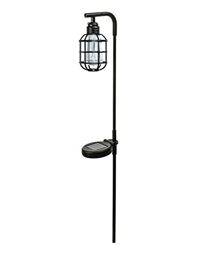 Paradise Garden Lighting Gl29964bk Edison Bulb Metal Solar Stake Light, Black by Paradise Garden Lighting