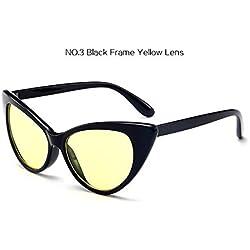 YLNJYJ Gafas De Sol Gafas Moda Mujer Transparente Pequeño Gato Ojos Gafas De Sol Damas Gafas Cateye Gafas De Sol Gafas