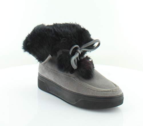 Michael Michael Kors Juno Faux Fur Trim Cold Weather Ankle Boot Storm (6) ()