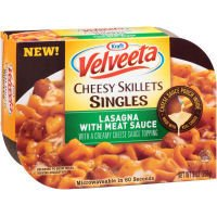 Kraft Velveeta Lasagna with Meat Sauce Cheesy Skillets Singles Microwave Dinner 9 oz (Pack of 6) by Kraft