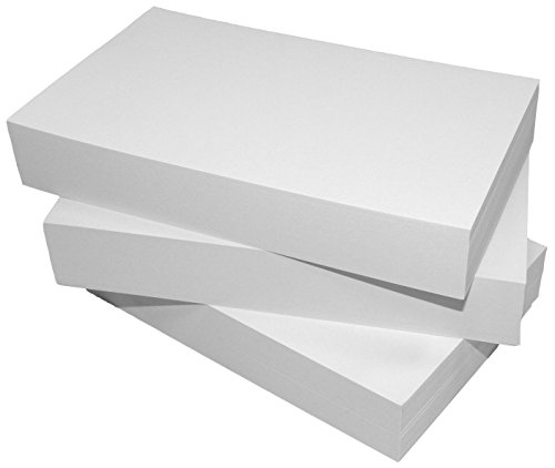 Debra Dale Designs - Blank Both Sides - Unruled 5'' x 8'' Index Cards - White - 300 Cards - 3 Packages of 100 - Extra Heavy 140# Index Card Stock - 253 GSM - .0118 Thick by DEBRADALE DESIGNS