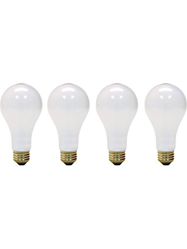 (4 Pack) 3-Way 50/100/150-Watt Incandescent A21 Medium Base Light Bulb, Soft White 50/150 (150w Medium Base Bulb A21)