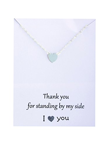 Friendship Necklace Infinity Beyond Heart Pendant Gift Card Family Friends Jewelry I Love You Silver Toned 19 inch (Thank You for Being My Unbiological Sister) (Wedding Gifts For Your Best Friend)