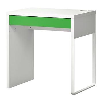IKEA MICKE - Escritorio, blanco, verde - 73x50 cm: Amazon.es ...