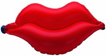 Dr. Winkler 431 - Cojín hinchable para bañera (2 ventosas), diseño de labios, color rojo