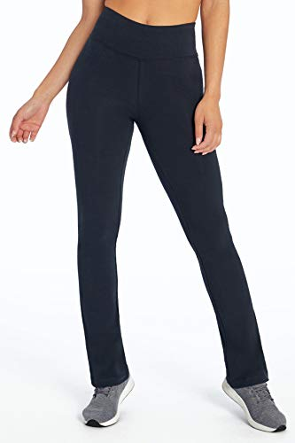 Bally Total Fitness Womens High Rise Tummy Control Pant, Black, Large ()