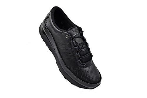 Zerimar Scarpe da Golf Fabbricati in Pelle Bovina Sport e Confortevole Casual Running Colore Nero Taglia 42