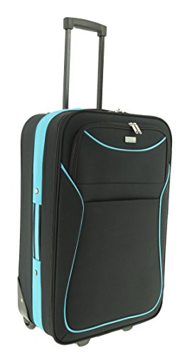Maletín de plástico Classic color negro azul tamaño m plástico Viaje Maleta Case FA. bowatex