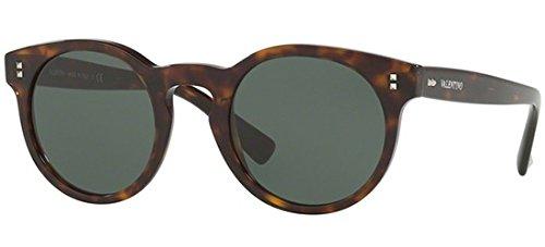 Valentino VA4009 500271 Havana VA4009 Round Sunglasses Lens Category 3 Size 47m