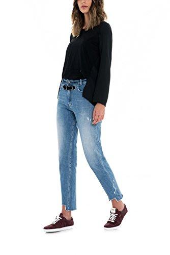 Cintura Mom Jeans Azzuro Con Offerta In Salsa 8p6qdx6