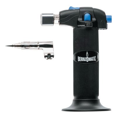 Micro Torch Butane Soldering (Bernzomatic 189-ST2200T Trigger Start Micro Butane Torch, Refillable)