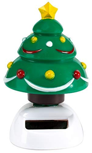 (The Paragon Christmas Tree Solar Powered Toy, Motion Dancer Figurine for Car Dashboard or Windowsill)