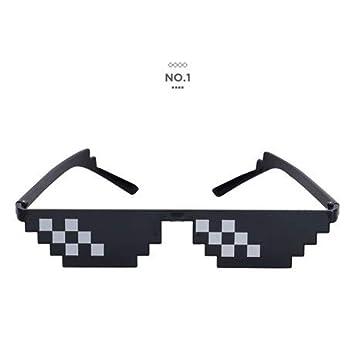 TYJYTM Gafas Pixelated Gafas de Sol Hombres Mujeres ...
