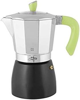 Habi kpb900 Cafetera Gran Café para 9 Tazas, Aluminio, Negro/Verde ...