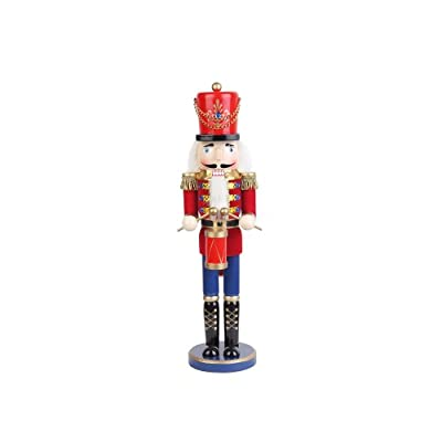 18 Inch Red Nutcracker Drummer Soldier